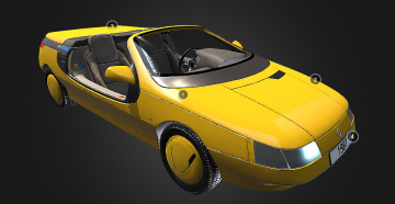 Car prototype 3D model
