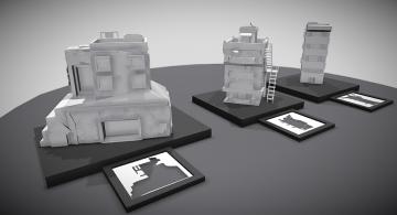 Concept buildings 3D model