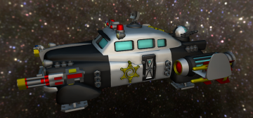 GALACTIC POLICE PATROL SHIP 3D model