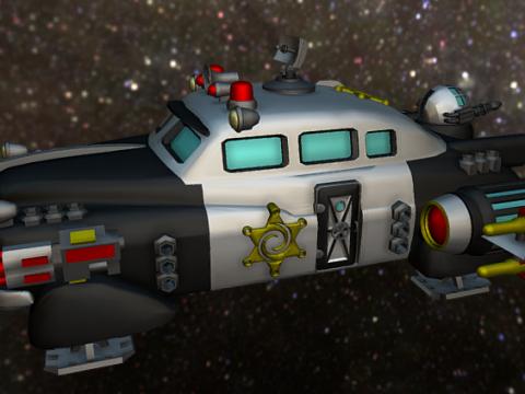 GALACTIC POLICE PATROL SHIP 3D model