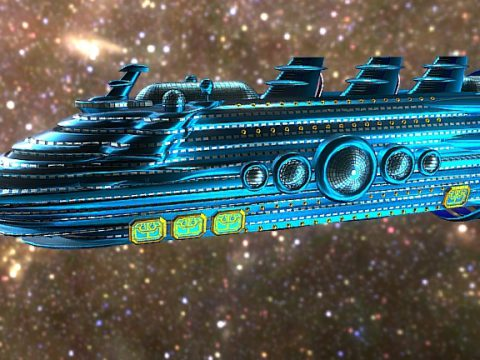 Galactic Empress: Luxury Starliner 3D model