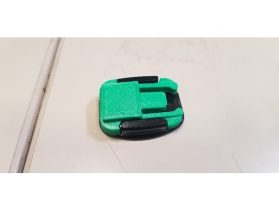 GoPro Style Buckle Mount with Flat Top 3D model