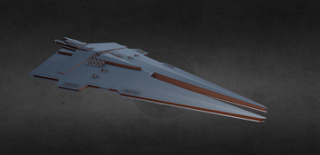 Harrower - Class Dreadnaught 3D model