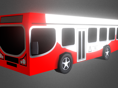 LowPoly Bus 3D model
