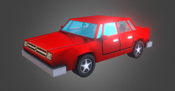 LowPoly Sedan 3D model