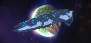 Minecraft Spaceship 3D model