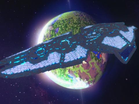 Minecraft Spaceship 3D model