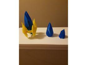 No-Glue Pylon Crystal 3D model