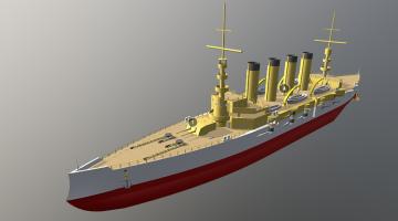 SNS Irvine 3D model