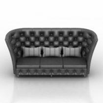 Sofa capitone 3d model