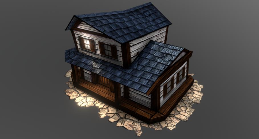 Southwest style Tavern 3D model