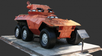 XM800 Armored Scout Vehicle 3D model