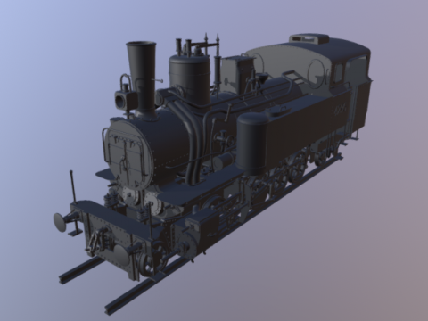 Locomotive highpoly 3D model