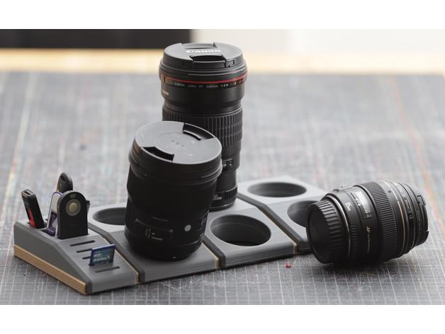 Space-saving storage system for Canon lenses 3D model