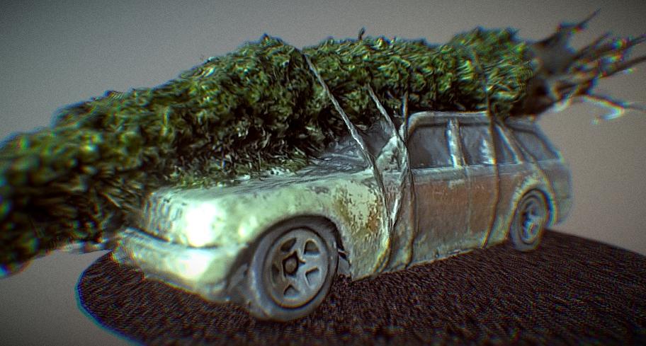 1989 Ford Taurus Wagon Christmas 3D model