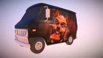 A van 3D model