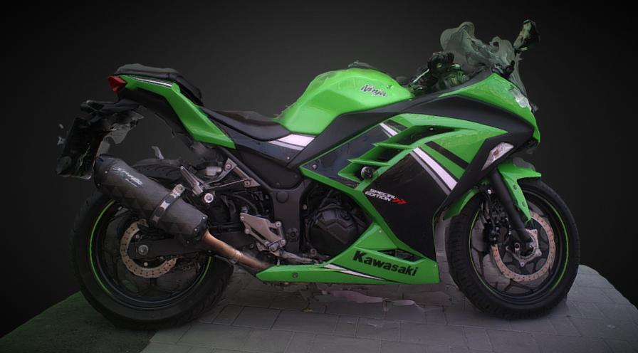 BIKE GREEN 3D model