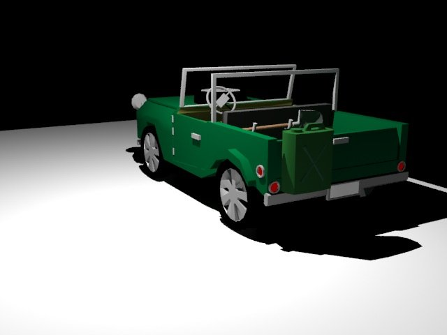Car LOW POLY 3D model