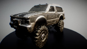 Chevy Blazer 4X4 with Mud Splatter 3D model