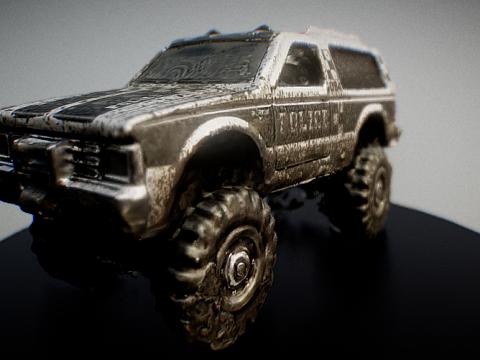 Chevy Blazer 4X4 with Mud Splatter 3D model
