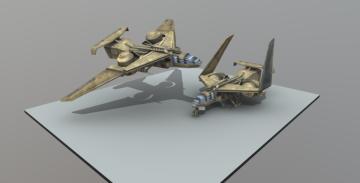 Combat jet 3D model
