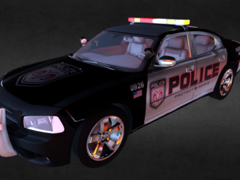 Dodge Charger Police 3D model
