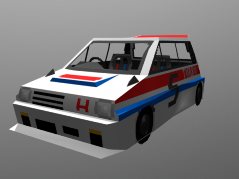 Honda City Turbo II 3D model