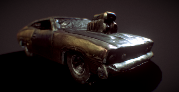 Mad Max Gas - 73 Ford Falcon XB 3D model