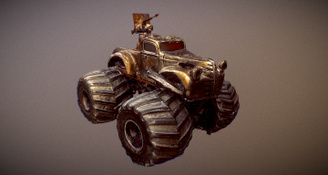 Mad Max Monster Truck 3D model