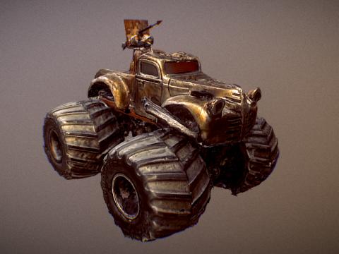 Mad Max Monster Truck 3D model