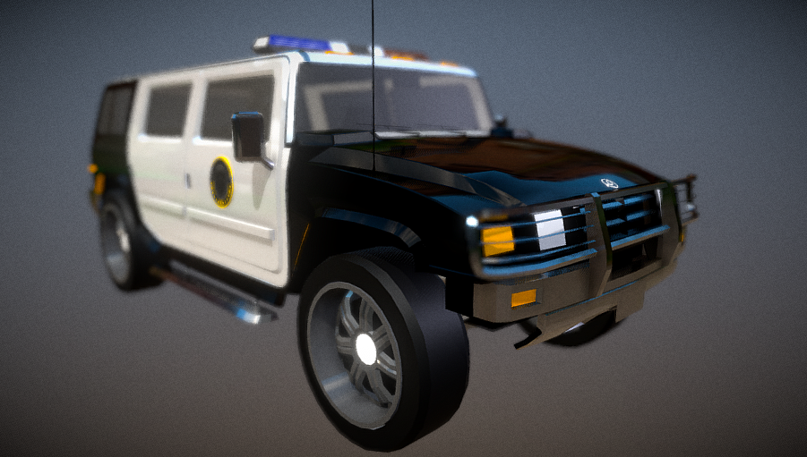 "Mammouth Patriot ""LSPD"" 3D model"