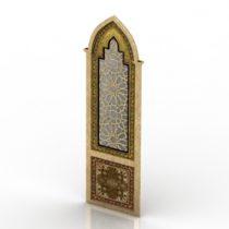Mirror asian decor 3d model