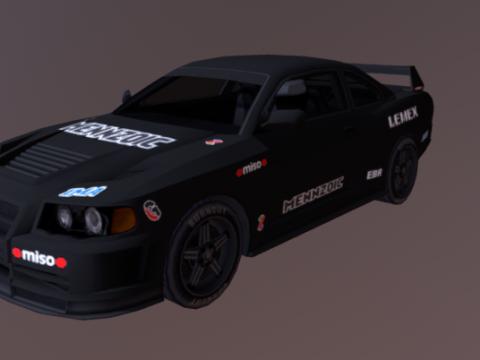 Muscle Type Car 3D model