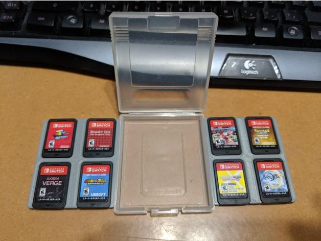 3D Nintendo Switch Game Storage in Gameboy Game Case model