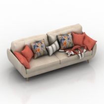Sofa Zinc French Connection 3d model