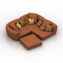 Sofa narciss Pushe 3d model