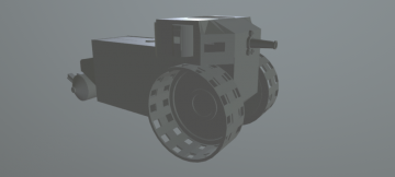 Steam Wheel Tank 3D model