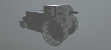 Steam Wheel Tank 3D model