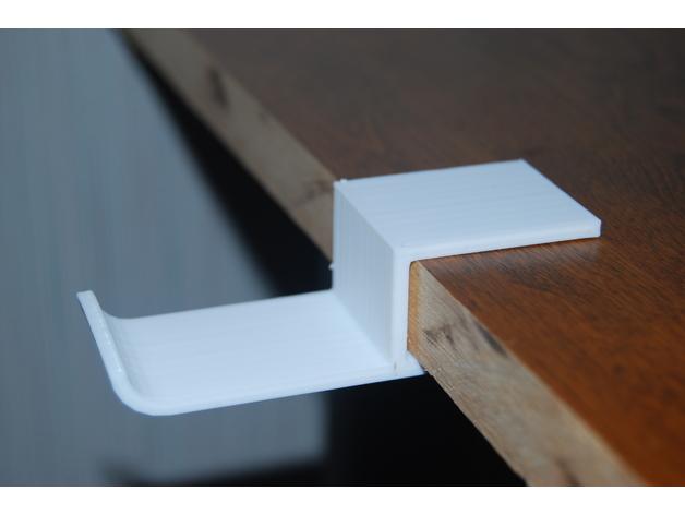 Table Edge Headphone Mount 3D model