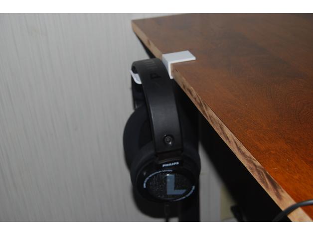 3D Table Edge Headphone Mount model