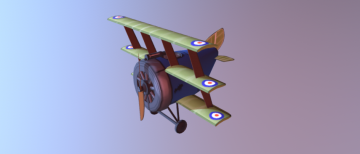 Ww1 sopwith triplane 3D model