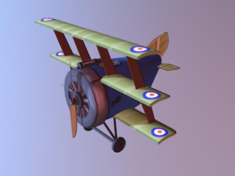Ww1 sopwith triplane 3D model