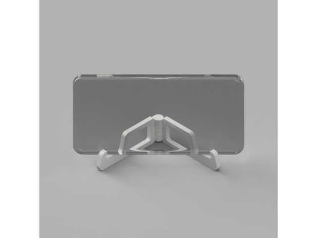 Compact hinged phone stand 3D model