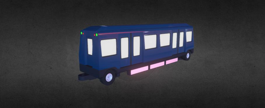Subway wagon 3D model