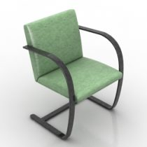 Armchair Brno formdecor 3d model