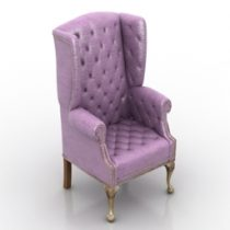Armchair Jonathan Wingback Chair Tufted Formdecor 3d model