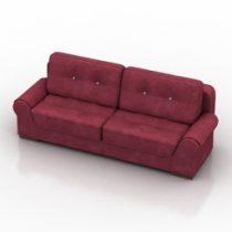 Sofa Burzhe Pushe 3d model
