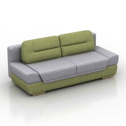 Sofa Daura Pushe 3d model