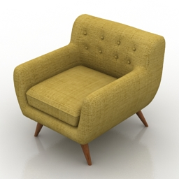 Armchair Dane Lounge Formdecor 3d model