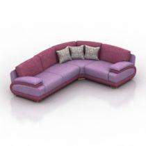 Sofa Valette Corner 3d model